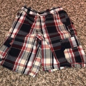 Other - Boys plaid shorts with adjustable waist